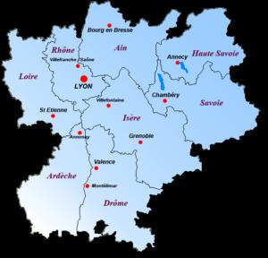 carte-region Rhône Alpes